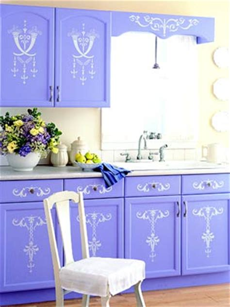 kitchen stencil ideas painted and stenciled kitchen cabinets hooked on houses