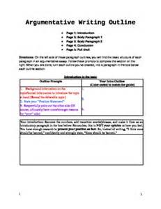 Argumentative Essay Sle High School by Argumentative Essay Fill In The Blank Outline Graphic Organizer