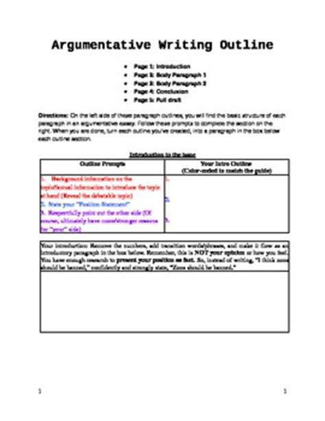 argumentative essay format middle school argumentative essay fill in the blank outline graphic