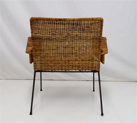 Wicker Lounge Chairs Sale by Keppel Green Iron And Wicker Lounge Chair For Sale At
