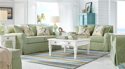 green living room sets home beachside green 7 pc living room