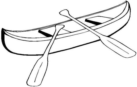 canoe paddle template canoe clipart black and white pencil and in color canoe