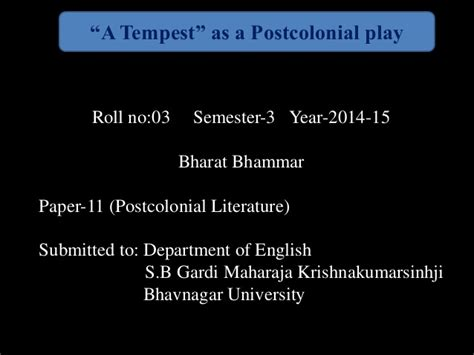 themes of postcolonial literature quot a tempest quot as a post colonial play