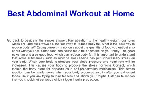 best abdominal workout at home