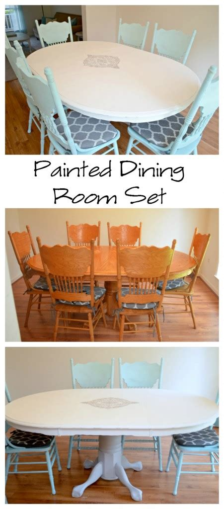 painted dining room sets painted dining room set