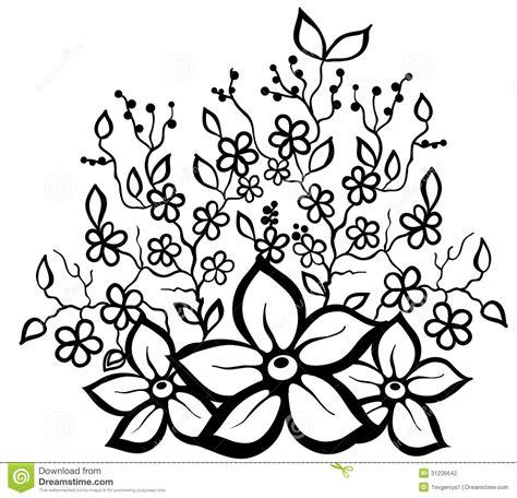 flower pattern in black and white flower design pattern black and white clipart best