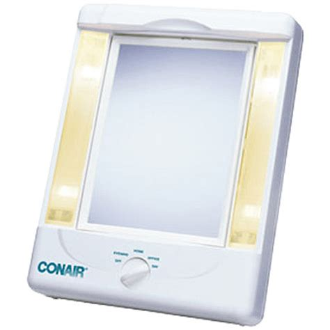 Lighted Makeup Mirror Walmart conair two sided makeup mirror with 4 light settings