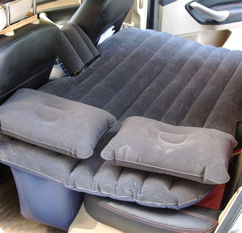 back seat couch car travel cing inflatable mattress flocking air bed