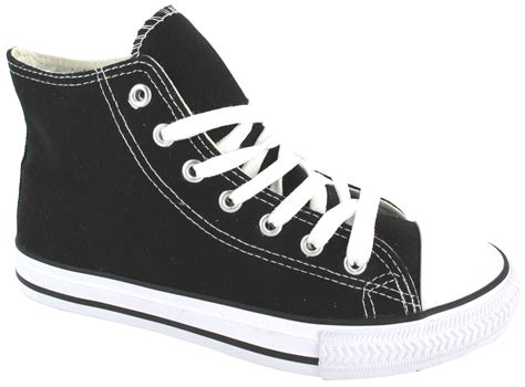 size 3 shoes for hi high top boys womens skate canvas trainer