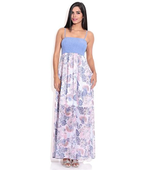 Maxi Only buy only blue polyester maxi dress at best prices in india snapdeal