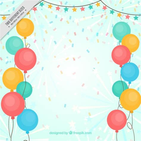 imagenes de globos sin fondo fondo de globos de colores y confeti descargar vectores