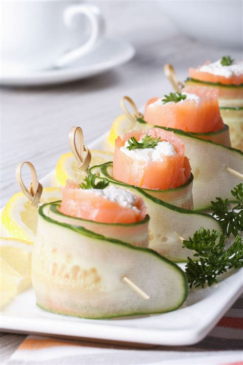 appetizers ideas fancy appetizer recipe cucumber salmon cream cheese