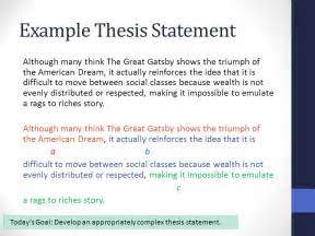 An Exle Of A Thesis Statement In An Essay by Synthesis Essay Thesis Statements Benchmark Ppt