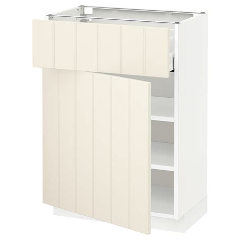 ikea off white kitchen cabinets metod maximera base cabinet with drawer door white hittarp