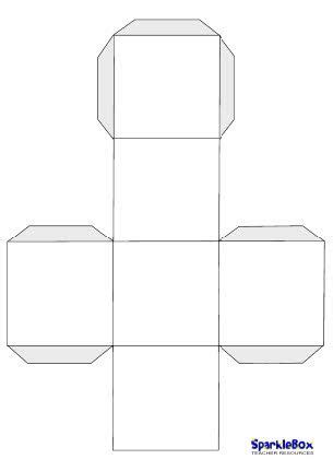 printable custom dice blank dice template from sparklebox make your own dice