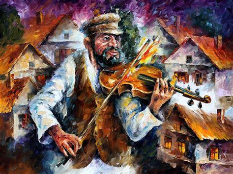 paint nite calgary fiddlers leonid afremov on canvas palette knife buy original