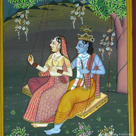Floor And Decor Coupon by Hindu Radha Krishna On Swing Rajasthani Miniature Wall Art