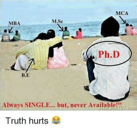 Single And Mba by Meca Msc Mba Phd Be Always Single But Never Avajlable Corn