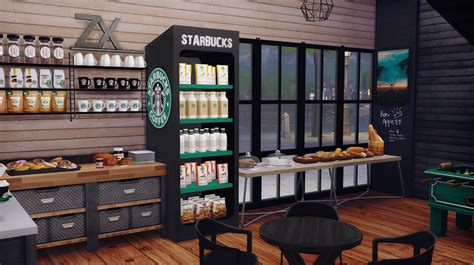 Toaster Pastry Starbucks Coffee Shop Lot Furnished Dreamteamsims