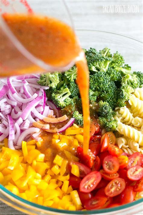 vegetarian pasta salad recipe vegetable pasta salad recipe bread booze bacon