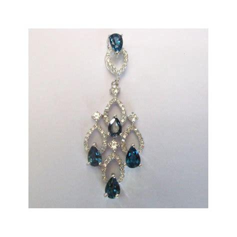 Cincin Lapis Emas Permata Perhiasan Imitasi Yaxiya Jewelry 228 liontin silver 925 dengan permata blue topaz