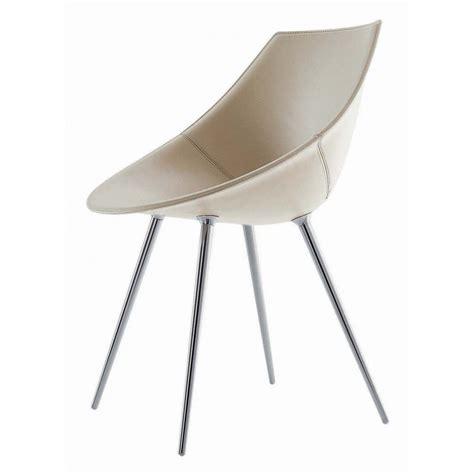 chaise en cuir driade lago design philippe starck