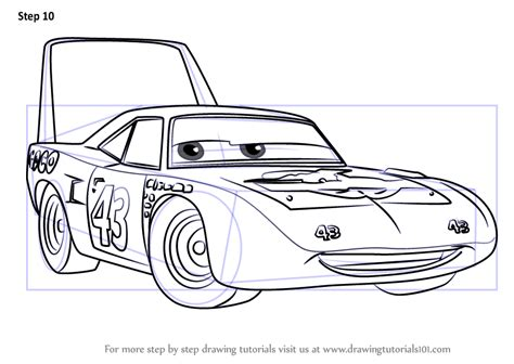 king cars coloring pages learn how to draw the king aka strip weathers from cars 3
