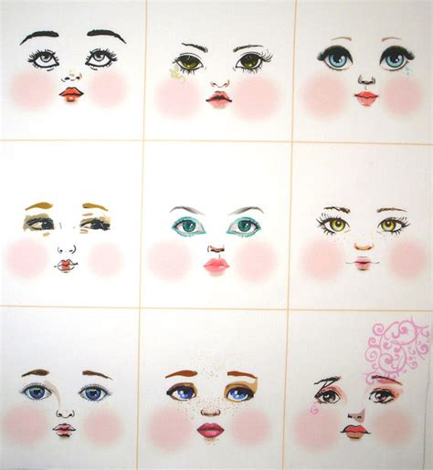 black doll faces for crafts artistic cloth doll faces ready to sew fabric panel white