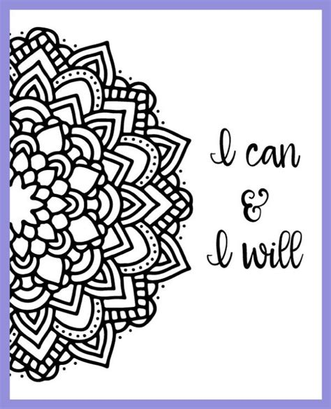 mandala coloring book with quotes motivational mandala free coloring pages mandala