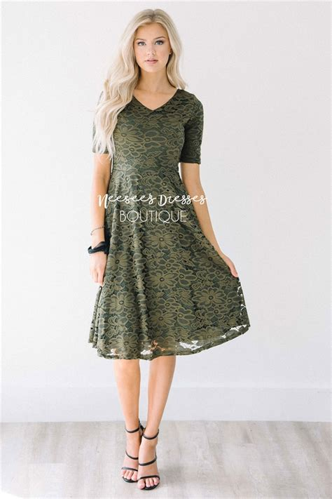 Modest Dresses by Olive Lace Modest Dress Modest Bridesmaids Dresses With