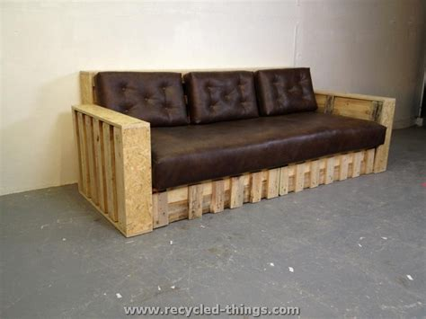 recycle sofas recycled pallet furniture ideas recycled things