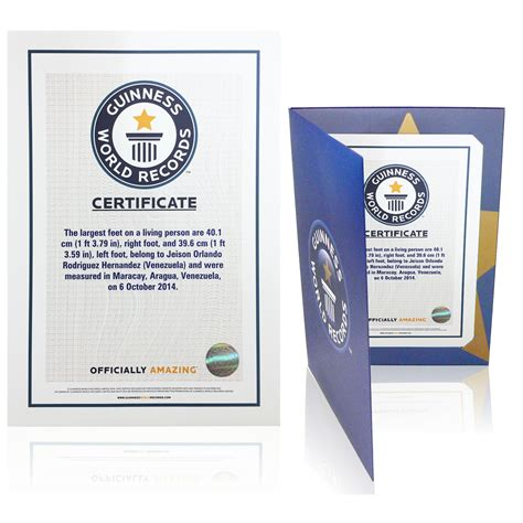 Certificates Records The Guinness World Records Store Certificates