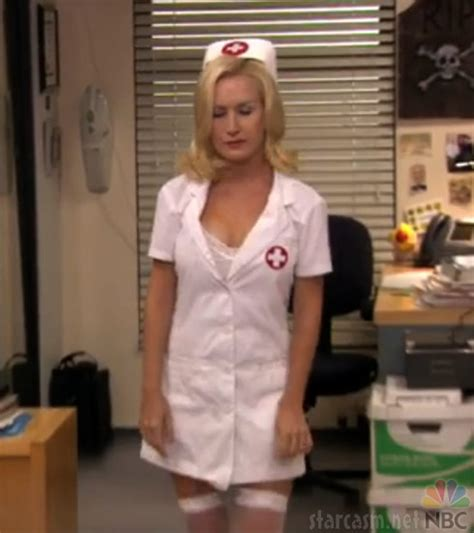 hot office pregnancy photos video angela as a sexy nurse from the office s