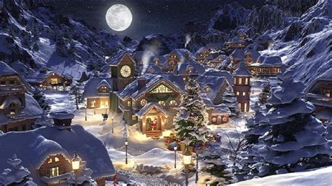 images of christmas night christmas scenery wallpapers wallpaper cave
