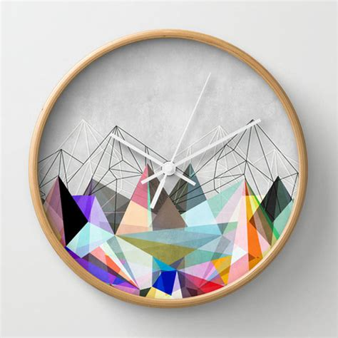 cool clocks cool wall clocks gorgeous graphic design 30 geometric home decor ideas you will love