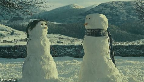 commercial woman hits snowman john lewis s snowman voted favourite christmas advert over