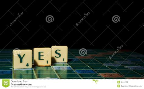 is ye a word in scrabble scrabble letters royalty free stock image image 30494176