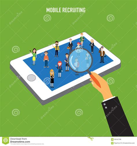 mobile human resources human resource mobile recruiting stock vector image