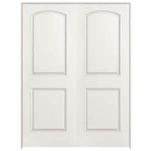 Interior Double Doors Home Depot by Masonite 48 In X 80 In Roman Smooth 2 Panel Round Top