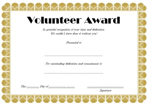 volunteer certificate of appreciation templates free volunteer certificate template 6 ss professional and