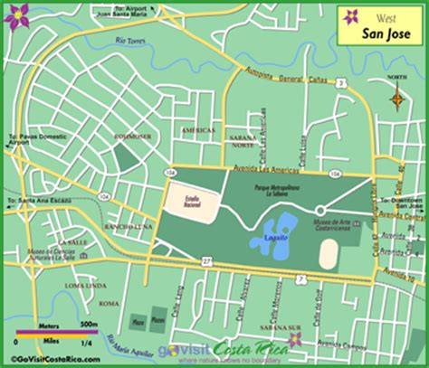 san jose costa rica neighborhoods map see what the west of san jose has to offer go visit