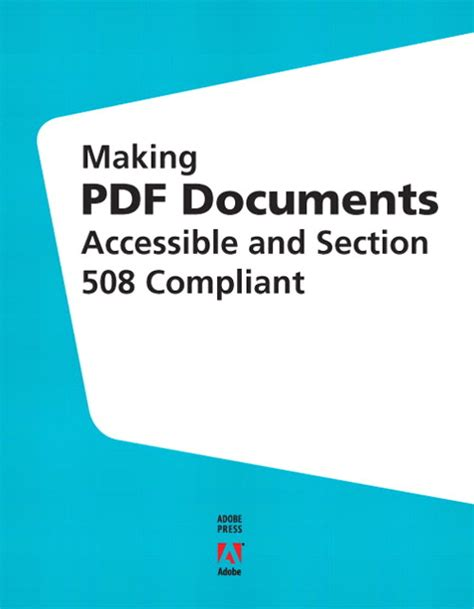 section 508 compliance pdf making pdf documents accessible and section 508 compliant