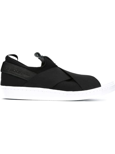 Adidas Slop Black adidas superstar slip on los granados apartment co uk