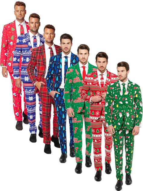 suit for christmas party mens deluxe opposuit festive oppo suit fancy dress costume ebay
