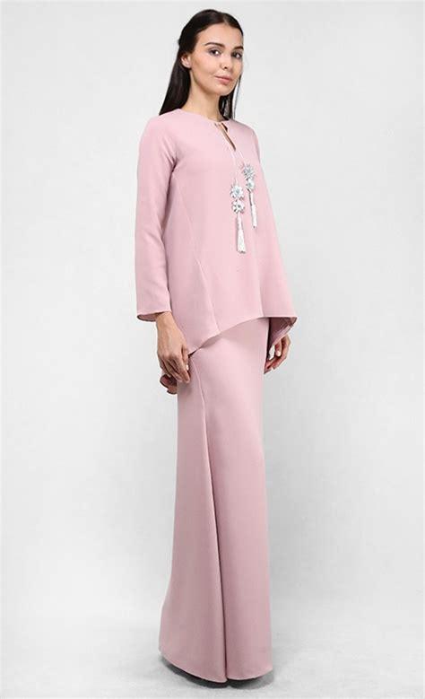 Baju Kedah sieena modern kurung kedah set in dusty pink fashionvalet