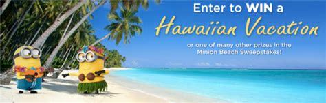 Trip To Hawaii Sweepstakes - chiquita minion beach sweepstakes win a trip to hawaii more