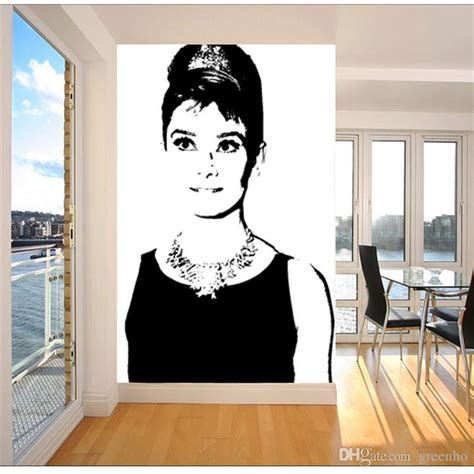 audrey hepburn wall mural black and white wall mural pop art audrey hepburn photo