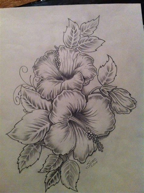hawaiian flowers tattoos hibiscus flowers drawing нιвιѕ 162 υѕ