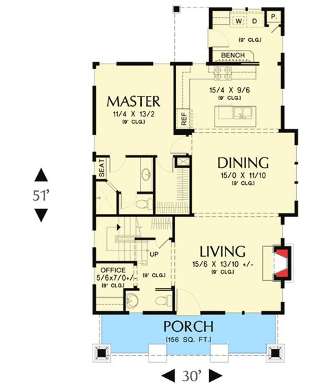 bungalow floor plans with loft bungalow with open floor plan loft 69541am