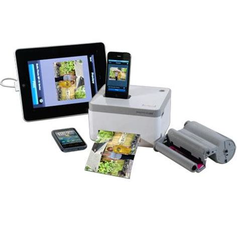 vupoint iphone photo photos cube printer 4x6 image a compact photo printer dock ebay